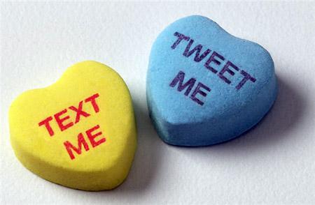 text me, tweet me